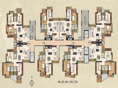 Even Typical Floor Plan Building 2 of VasaiOne
