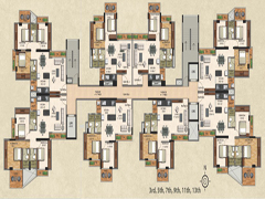 Odd Typical Floor Plan Building 2 of VasaiOne